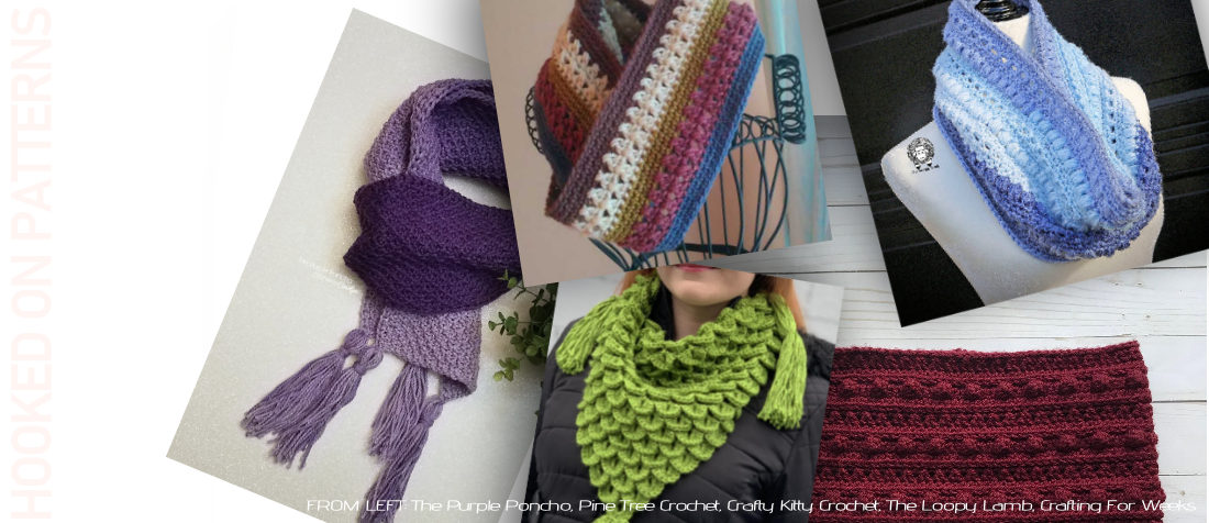 Scraves and Cowls Free Crochet Patterns Header