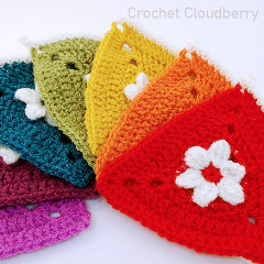 Rainbow Bunting Free Crochet Pattern