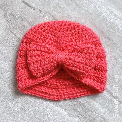 Ribbed Baby Turban Free Crochet Pattern