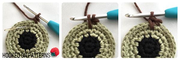 Spiked Single Crochet Stitch for Eyeball Coasters