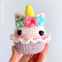 Unicorn Cupcake Free Crochet Pattern