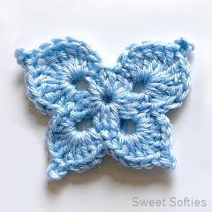 Butterfly Wings Applique Free Crochet Pattern