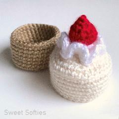 Cake Gift Box Free Crochet Pattern