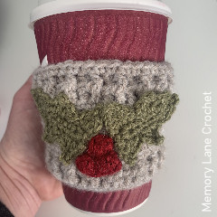Christmas coffee cosy Free Crochet Pattern