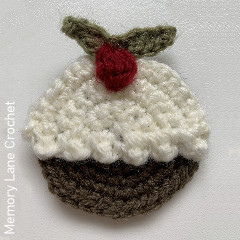 Christmas Pudding Applique Free Crochet Pattern