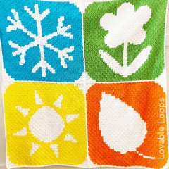 Four Seasons Blanket Free Crochet Pattern