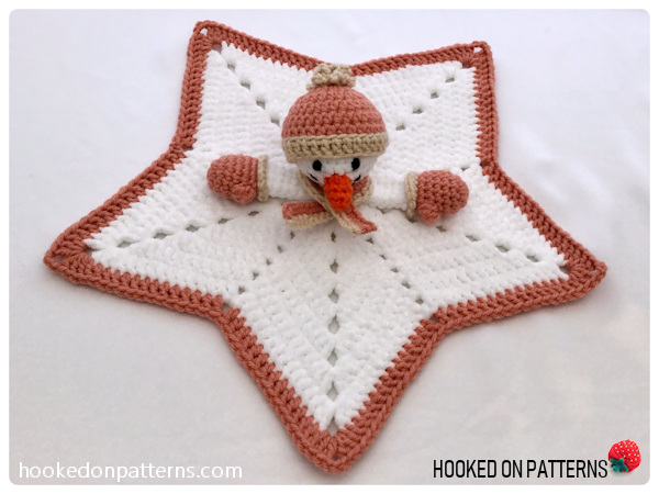 Free Snowman Lovey Crochet Pattern - Completed
