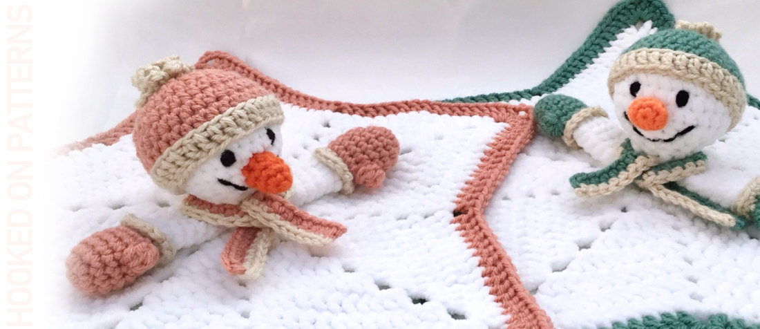 Free Snowman Lovey Crochet Pattern Featured Image