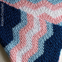 Jasmine Ripple Blanket Free Crochet Pattern