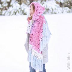 Piper Hooded Shawl Free Crochet Pattern