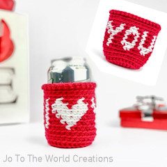 I Love You Can Cozy Free Crochet Pattern