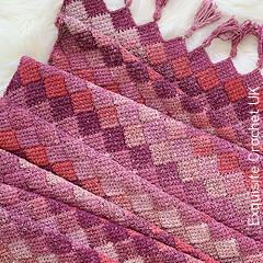 Rose Dreams Entrelac Shawl Free Crochet Pattern