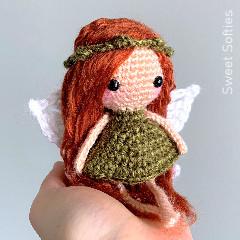 Woodland Leaf Fairy Free Crochet Pattern