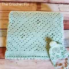 A thumbnail photo of the Aidan's Radiating Diamonds Blanket free crochet pattern