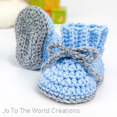 A thumbnail photo of the Baby Booties free crochet pattern