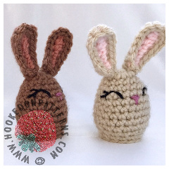 A thumbnail image of the free Easter bunny Creme Egg cover crochet pattern
