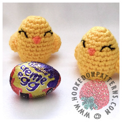 A thumbnail image of the Easter egg chicks crochet pattern