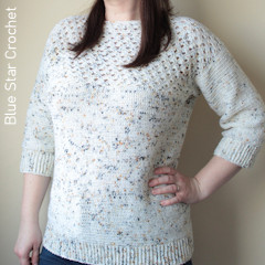 A thumbnail photo of the Hawberry Sweater free crochet pattern