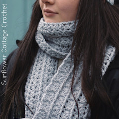 A thumbnail photo of the Kate Scarf free crochet pattern