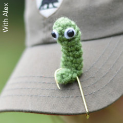 Thumbnail image of the Worm On A Hat Hook free crochet pattern