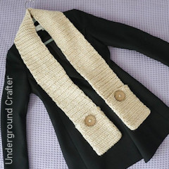 Thumbnail image of the Adult Pocket Scarf free crochet pattern