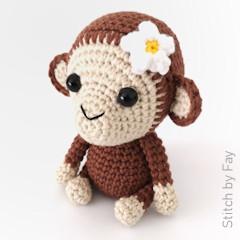 Thumbnail image of the Maisy the Monkey free crochet pattern