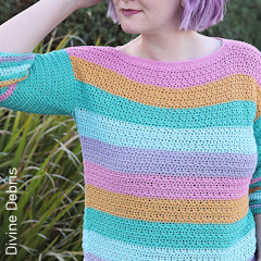 Thumbnail image of the Alix Pullover free crochet pattern