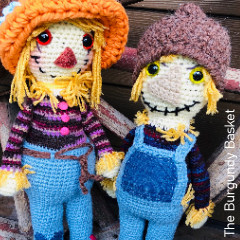 Thumbnail image of the Floyd and Flora Scarecrows free crochet pattern