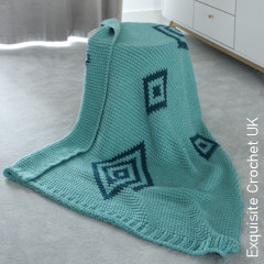 Thumbnail image of the Gilal Diamond Throw free crochet pattern