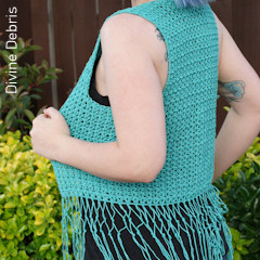 Thumbnail image of the Mary Vest free crochet pattern