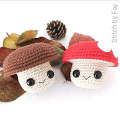 Thumbnail image of the Mushroom Buddy free crochet pattern
