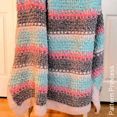 Thumbnail image of the Soft and Sweet Textured Blanket free crochet pattern