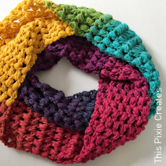 Thumbnail image of the Cloud 9 Infinity Scarf free crochet pattern