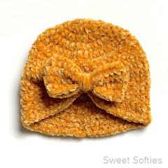 Thumbnail image of the Velvet Baby Turban free crochet pattern