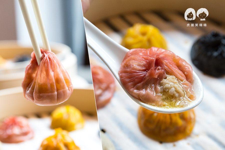 蒸宴港式飲茶 高雄 三民區 八色小籠包 紅麴