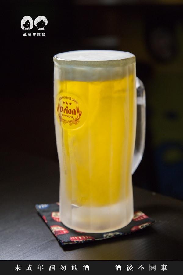 柶築居酒屋 高雄 左營 居酒屋 日本料理 沖繩ORION生啤酒 120/杯