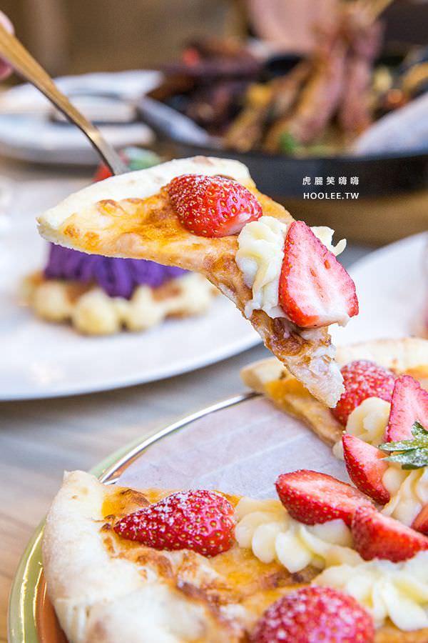 Poppy Waffle 高雄 粉紅色戀曲 草莓pizza