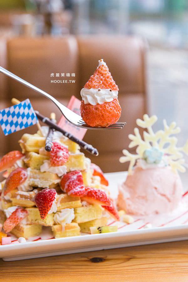 瑪莉桃桃 親子餐廳 愛戀草莓骰子鬆餅(季節限定) NT$220