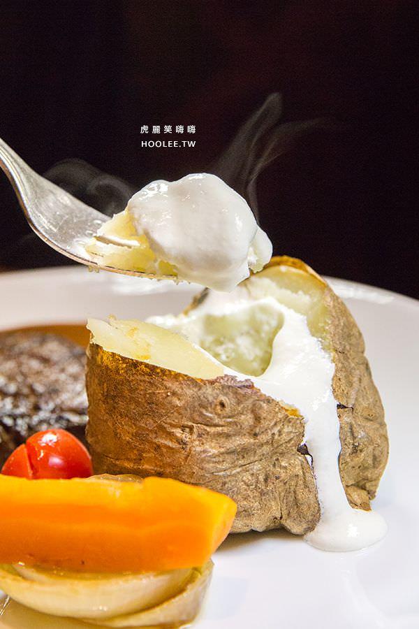 漢來大飯店45樓牛排 馬鈴薯加酸奶
