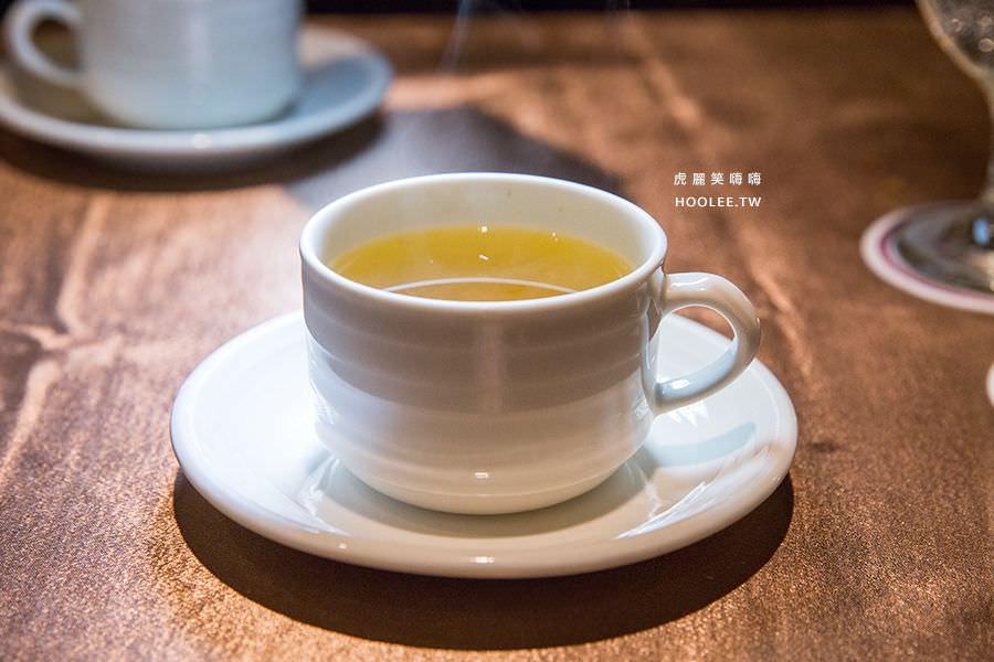 漢來大飯店45樓牛排 熱茶