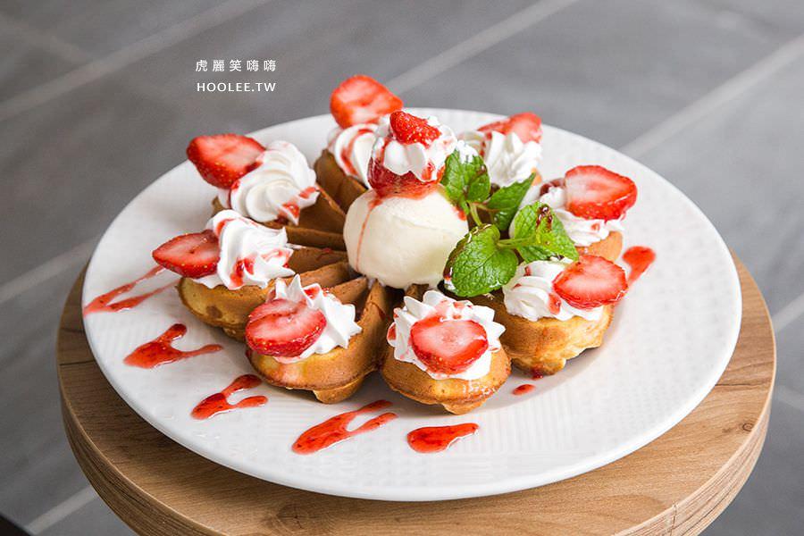 貢茶 高雄 草莓花型鬆餅 NT$160