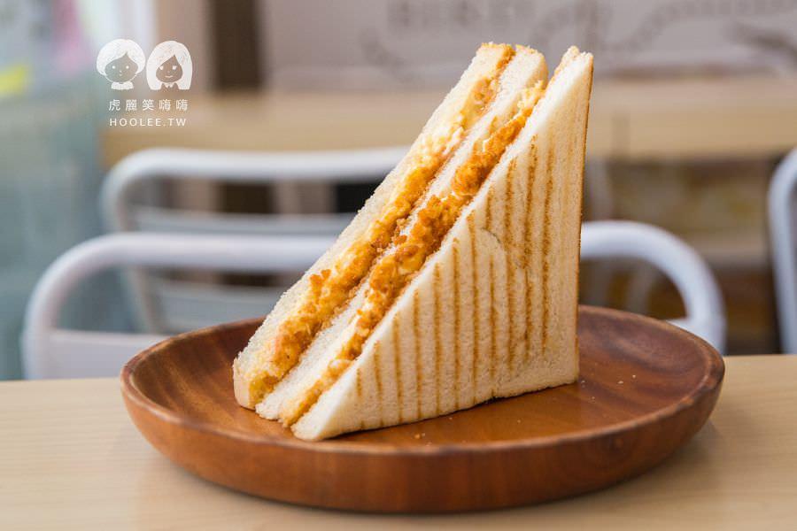 早安公雞 大豐店 高雄早餐店 推薦 雞蛋洋芋花生鬆土司 NT$35