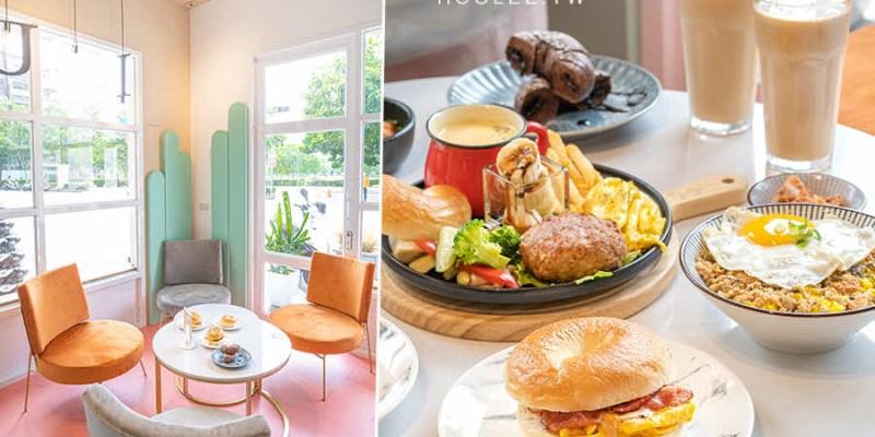 咕嘰咕嘰早午餐 瑞南店(高雄)前鎮美食推薦!可愛粉色系約會美店,必吃6盎司漢堡排及奧本職人貝果