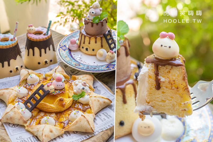 雛菊鬆餅 Chuju Waffle(高雄)萌翻天布丁甜點!甜食控的布丁熊熊套餐,可愛蛋糕披薩與奶昔