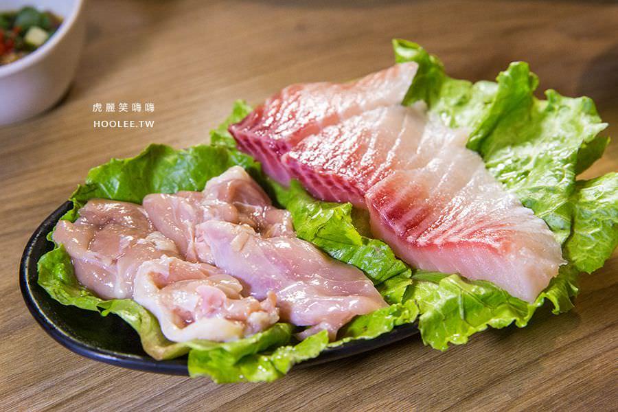 峰火鍋 高雄火鍋推薦 個人鍋(附蔬菜及肉品 海鮮鍋) NT$218 附鯛魚片x3、蛤蠣x3、白蝦x2、肉片x2