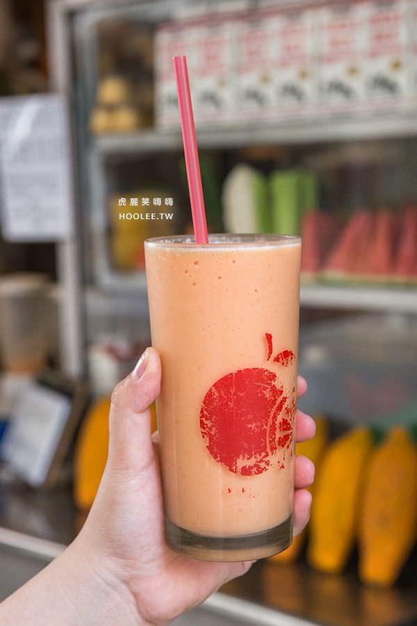 小溝頂木瓜牛奶 岡山美食推薦 木瓜牛奶 中杯(500cc) NT$45