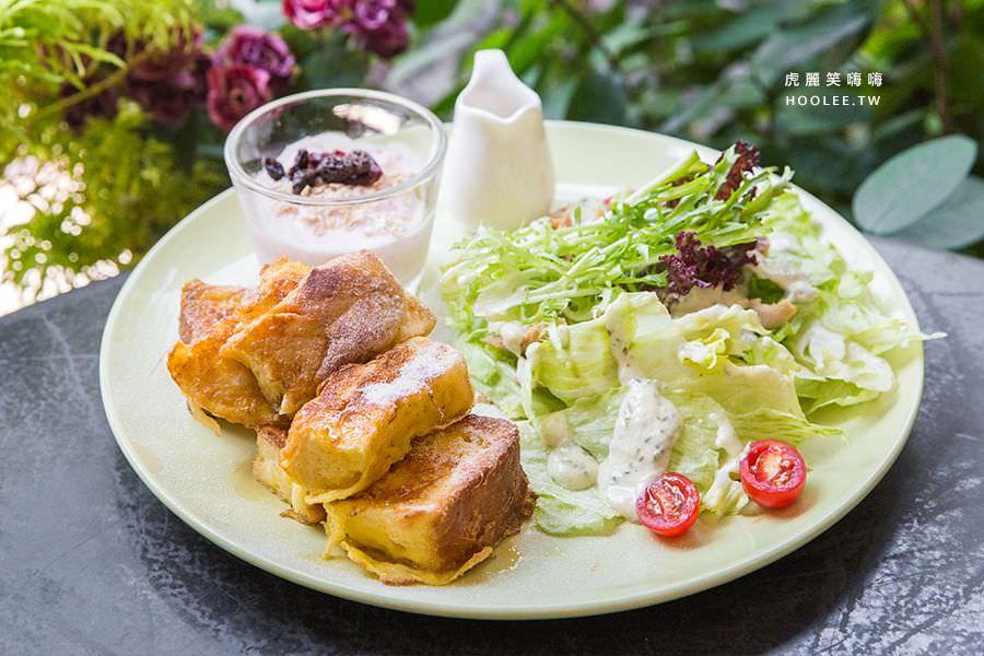 漫漫花時間 高雄早午餐推薦 丹麥楓糖吐司佐嫩雞沙拉 NT$260