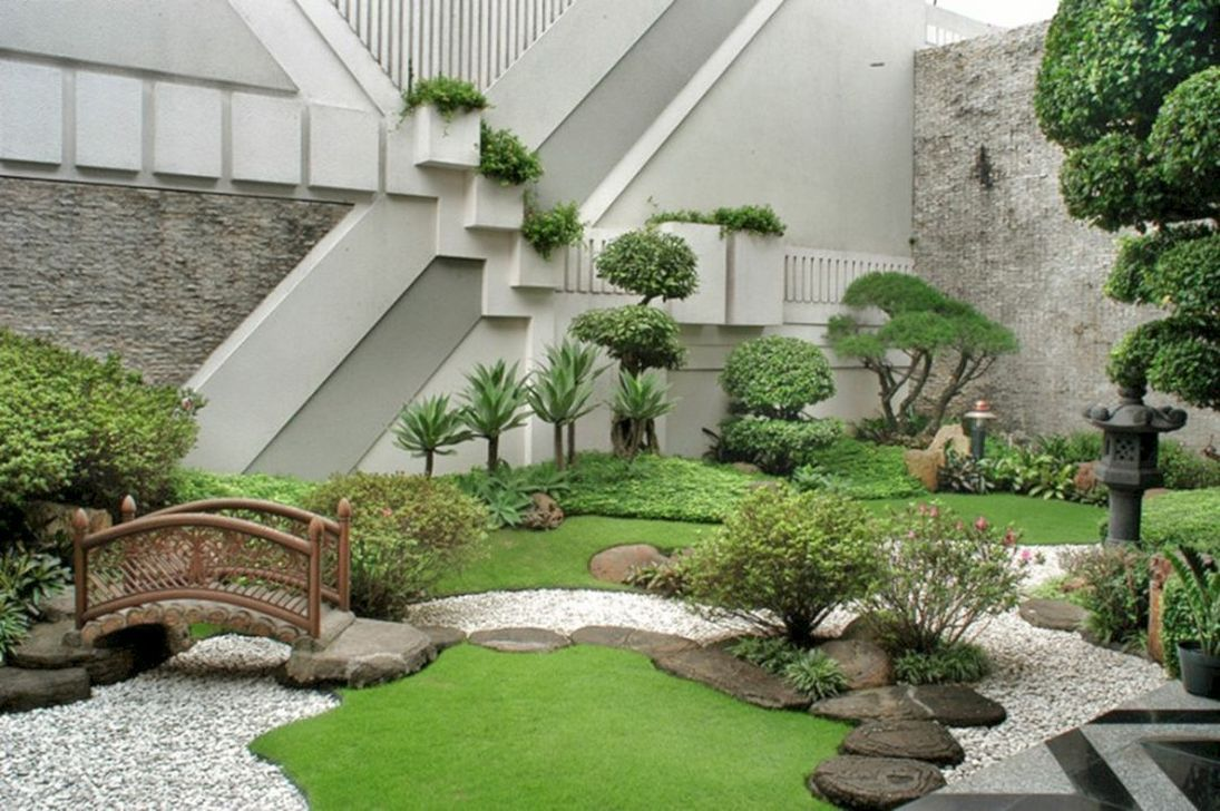Beautiful Modern Rock Garden Ideas For Backyard Landscaping 05