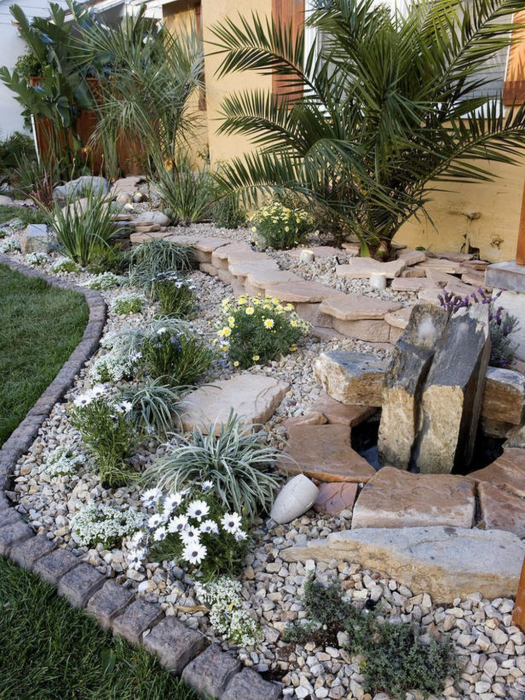 Beautiful Modern Rock Garden Ideas For Backyard Landscaping 07