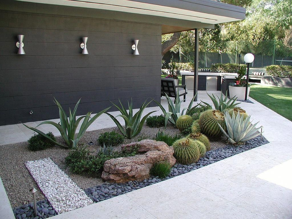 Beautiful Modern Rock Garden Ideas For Backyard Landscaping 16
